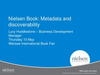 Nielsen Book: Metadata and discoverability