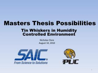 Masters Thesis Possibilities