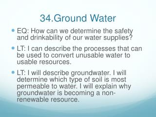 34.Ground Water