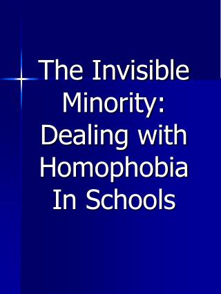 homophobia in schools What is homophobia and homophobic bullying homophobia and transphobia bullying can happen face to face, at school, in the workplace and online.