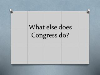 What else does Congress do?