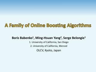 A Family of Online Boosting Algorithms