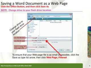Saving a Word Document as a Web Page