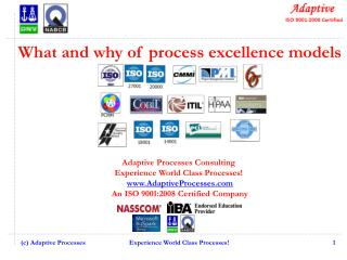 What and why of process excellence models Adaptive Processes Consulting