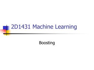 2D1431 Machine Learning