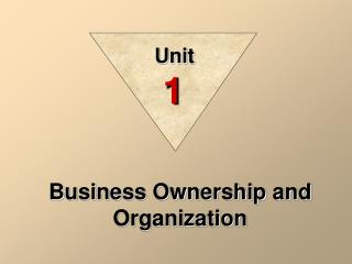 Business Ownership and Organization