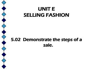 UNIT E   SELLING FASHION