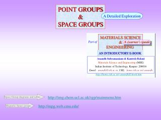 POINT GROUPS & SPACE GROUPS