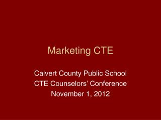 Marketing CTE