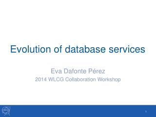 Evolution of database services