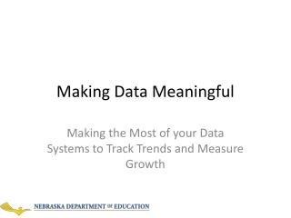 Making Data Meaningful