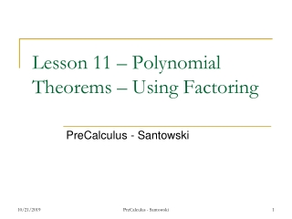 Applications of Precalculus