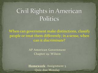 Civil Rights in American Politics