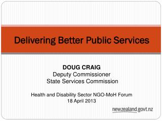 Delivering Better Public Services