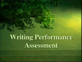 Writing Performance Assessment