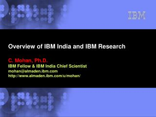 Overview of IBM India and IBM Research