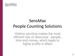 SensMax  People Counting Solutions