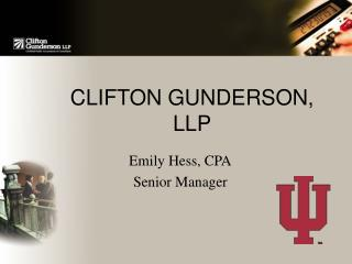 CLIFTON GUNDERSON, LLP