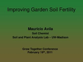 Improving Garden Soil Fertility