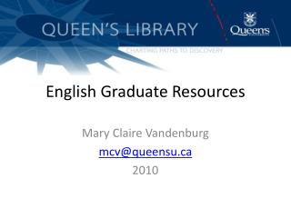 English Graduate Resources