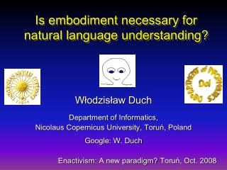 Is embodiment necessary for  natural language understanding?