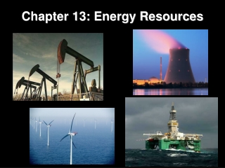 Chapter 13: Energy Resources