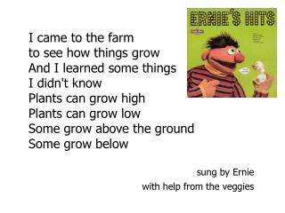 I came to the farm to see how things grow And I learned some things