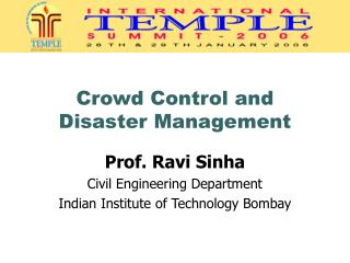 Crowd Control and Disaster Management