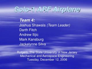 Solo-1 ARF Airplane