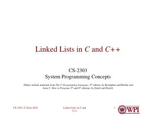 Linked Lists in C and C