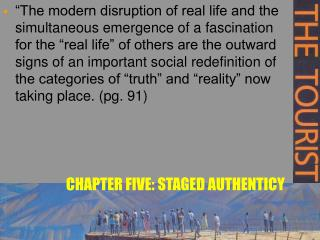 CHAPTER FIVE: STAGED AUTHENTICY
