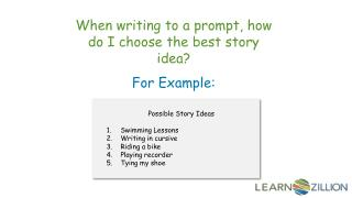 When writing to a prompt, how do I choose the best story idea?