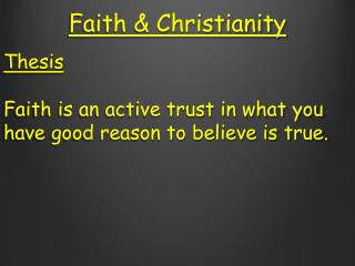 Faith & Christianity