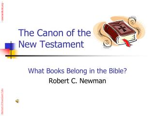 The Canon of the  New Testament