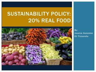 Sustainability policy: 20% real food