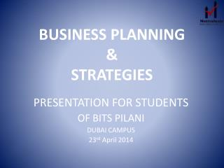 BUSINESS PLANNING  &  STRATEGIES