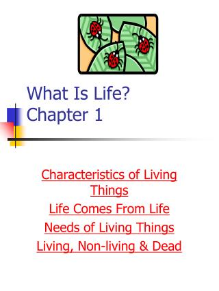 What Is Life?   Chapter 1