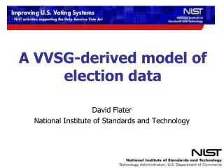 A VVSG-derived model of election data