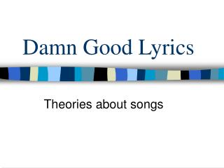 Aspects of Lyrics/songs