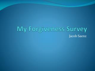 My Forgiveness Survey