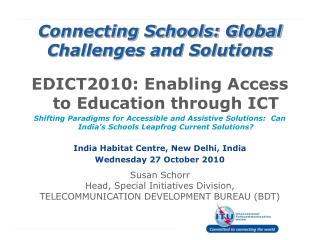 Connecting Schools: Global Challenges and Solutions