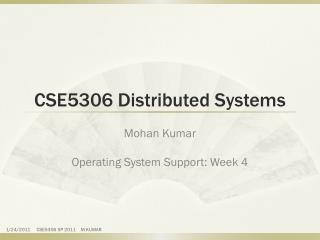 CSE5306 Distributed Systems