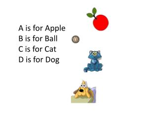 A is for Apple B is for Ball C is for Cat D is for Dog