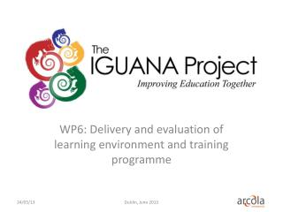 WP6: Delivery  and evaluation of learning environment and training programme
