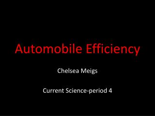 Automobile Efficiency