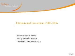 International Investment 2005-2006