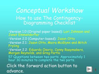 Conceptual Workshow