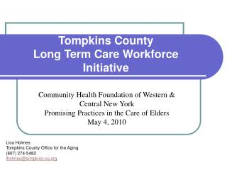 Tompkins County Long Term Care Workforce Initiative
