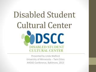 Disabled Student Cultural Center