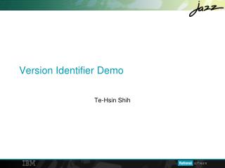 Version Identifier Demo